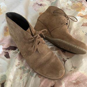 Franco Sarto Leather Wedge Booties